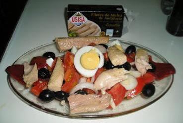 Ensalada con filetes de melva - Recetas Usisa