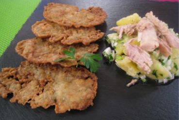 Patatas con melva y tortilla de sardinas - Recetas Usisa