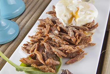 Desmigado frito de melva con huevo y citronette de tomillo - Recetas Usisa