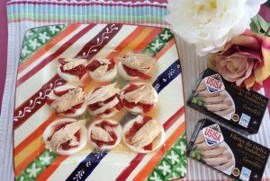 Melva canutera con queso blanco y pimientos asados - Recetas Usisa